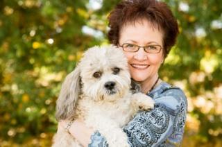 senior-dog-adoption-woman-and-dog