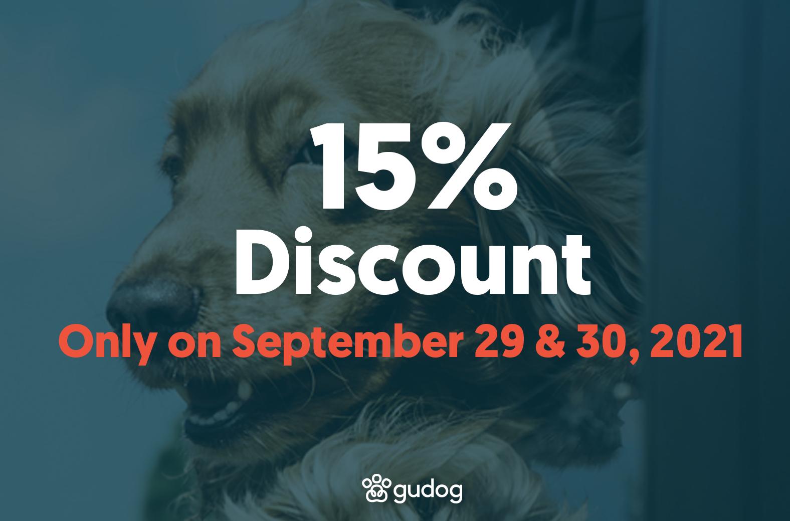15% discount on Gudog